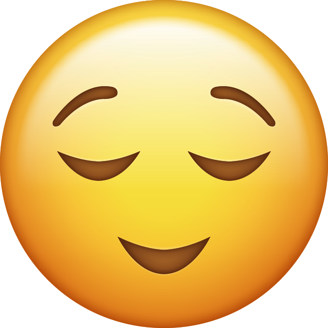 Relieved Emoji [Free Download iPhone Emojis] Free Icon HQ PNG Image